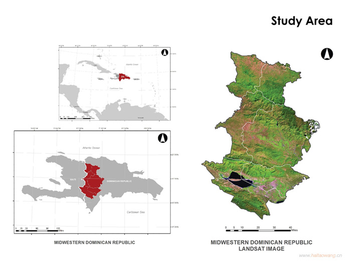 Study area for Dominican Republic Deforestation
