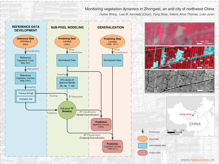 Mapping vegetation dynamics of an arid city: workflow